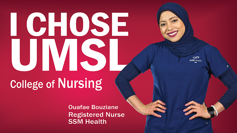 NursingSchoolHub ranked the RN to BSN Program No. 21 on its list of Top 25 Online RN to BSN Programs 2019. (Image courtesy of UMSL University Marketing and Communications graphic design.)