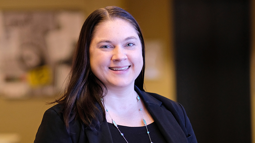 Anne Thatcher graduated last August not only with her DNP but with a desire to have a large-scale impact on behavioral health in the U.S. (Photo by August Jennewein)