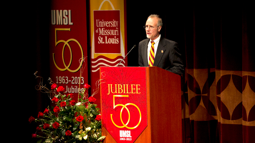 A visual trip through Chancellor Tom George's tenure at UMSL