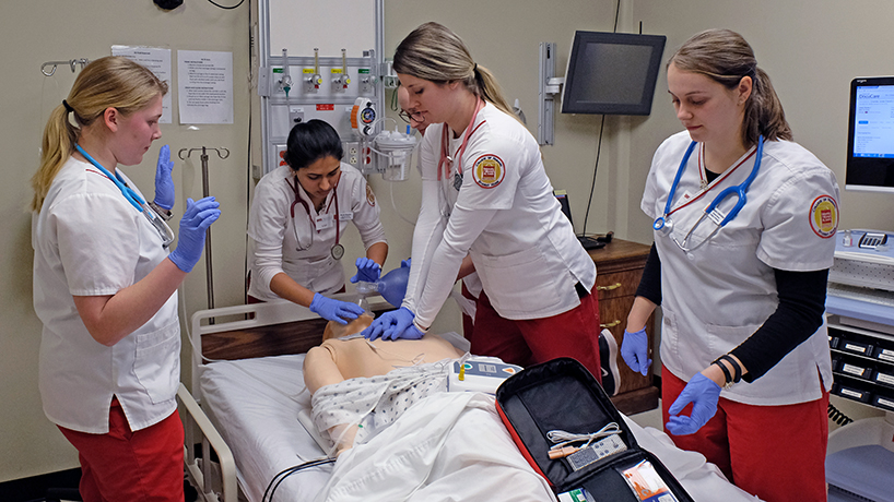 U.S. News & World Report Best Graduate Schools rankings placed UMSL College of Nursing's DNP and MSN programs as the first public option in the greater St. Louis area and third overall in the state. (Photo by August Jennewein)