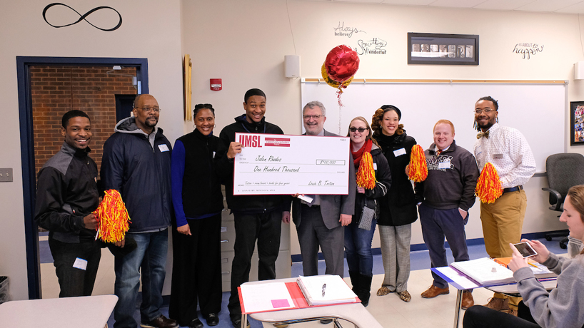 UMSL staffers surprise latest collection of Opportunity Scholars
