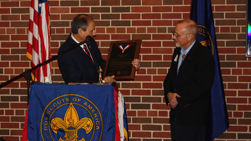 Chancellor Tom George receives Distinguished Eagle Scout Award