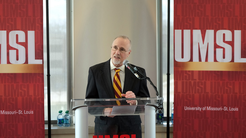University of Missouri–St. Louis Chancellor Tom George announces retirement