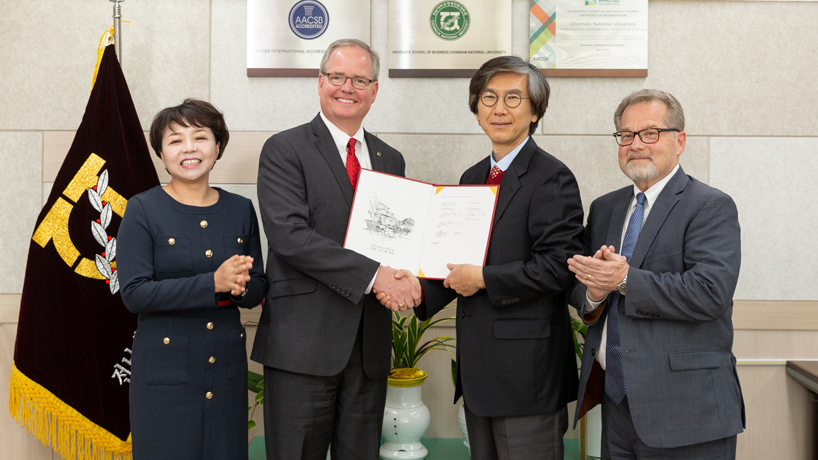 College of Business Administration signs dual degree agreement with South Korean university