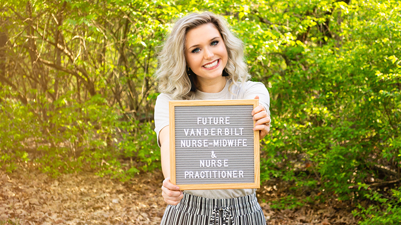 In the fall, Madison Bick heads to Nashville, Tennessee for the Vanderbilt University School of Nursing Nurse-Midwifery/Family Nurse Practitioner program, which U.S. News & World Report rates as top ten in the U.S. (Photo courtesy of Madison Bick)