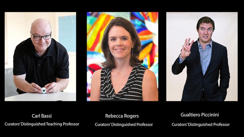 Professors Rebecca Rogers, Gualtiero Piccinini and Carl Bassi appointed to UM System's most prestigious ranks