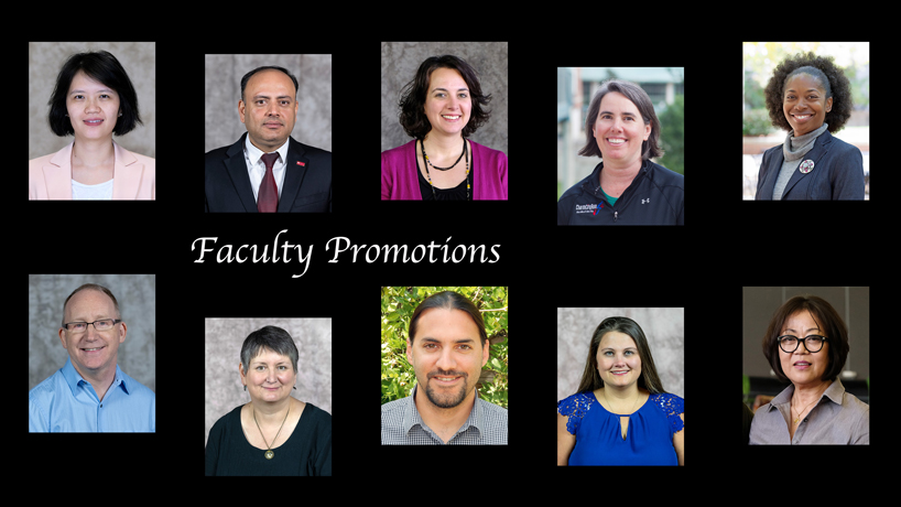 Provost Kristin Sobolik announces 25 faculty promotions taking effect before the next academic year