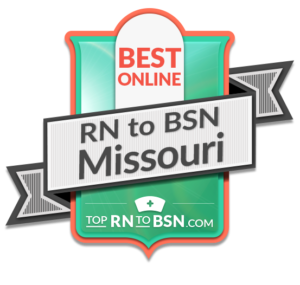 Top RN to BSN ranked the UMSL College of Nursing program as No. 6 in Missouri. (Graphic by Top RN to BSN)