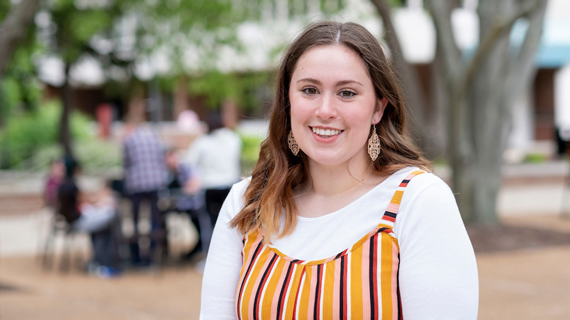 Anthropology major Morgan Tanner's empathy for people driving her toward future career