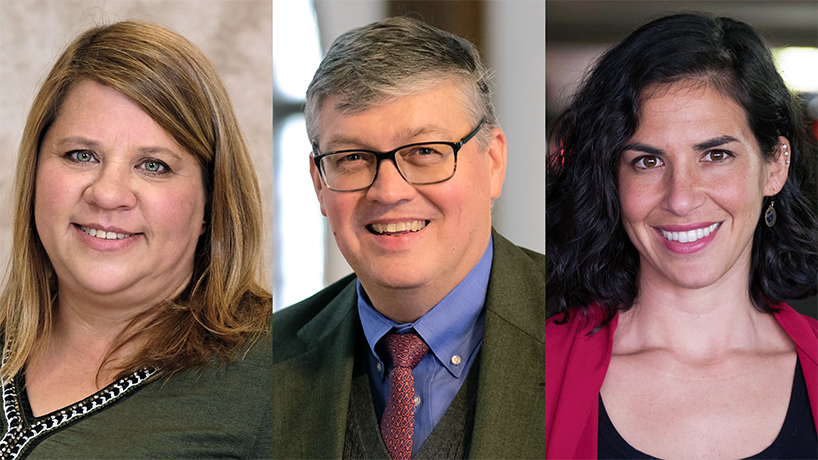 Jon McGinnis, Rachel Winograd and Lara Zwarun named Presidential Engagement Fellows