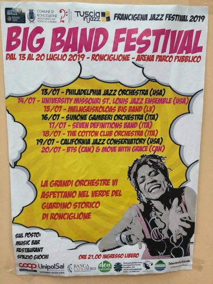 The group's last stop was the Big Band Festival in Ronciglione, Italy.