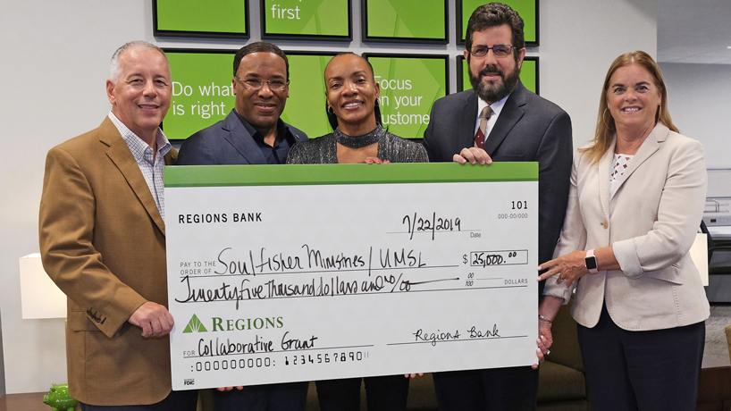 Regions Bank awards grant to UMSL, The SoulFisher Ministries to aid previously incarcerated job seekers