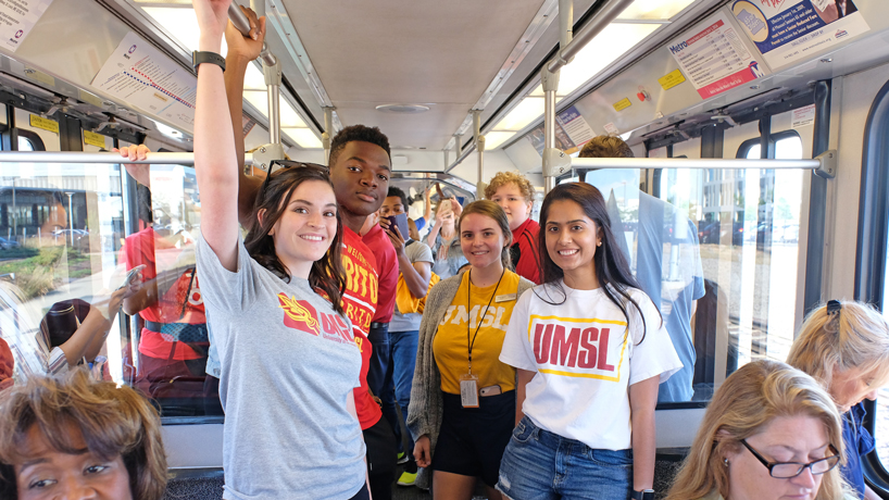 UMSL wins bragging rights in first College Transit Challenge