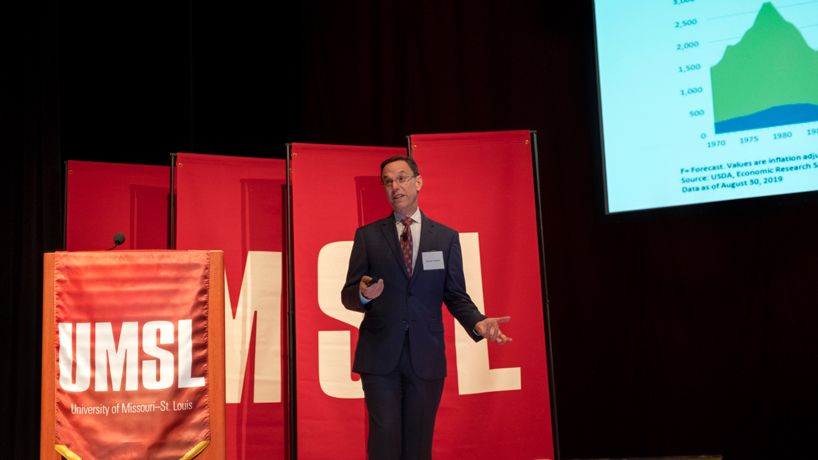 Top USDA economist speaks on agriculture and trade at UMSL forum