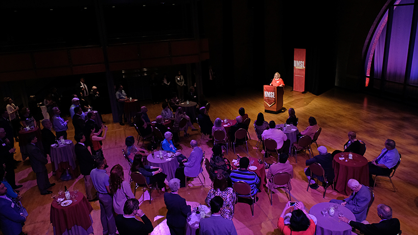 Alumni, students and staff gathered in the Lee Theater at the Touhill Performing Arts Center to celebrate 25 years of excellent engineering education last Thursday. (Photos by August Jennewein)