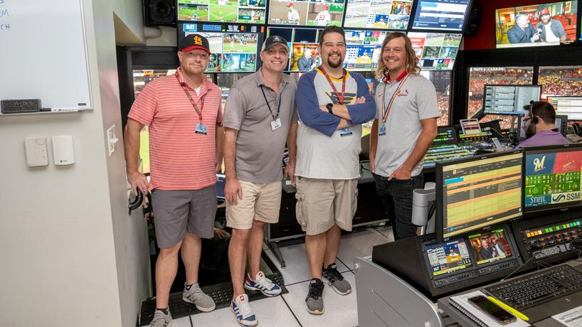 Alumni in Busch Stadium Video Scoreboard Department