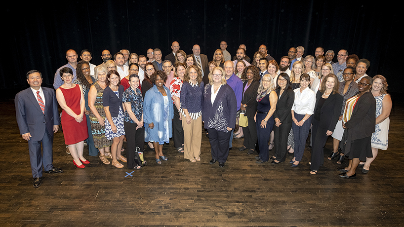 During the Faculty and Staff Recognition Ceremony, Interim Chancellor and Provost Kristin Sobolik recognized faculty and staff who have served at the university for 5, 10, 15, 20, 25, 30, 35, 40 and 45 years.