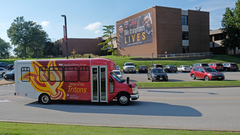 UMSL shuttles sport new design as part of transportation upgrade