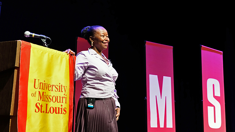 Farah Griffin's Common Read Signature Lecture attracts large audience from across UMSL campus