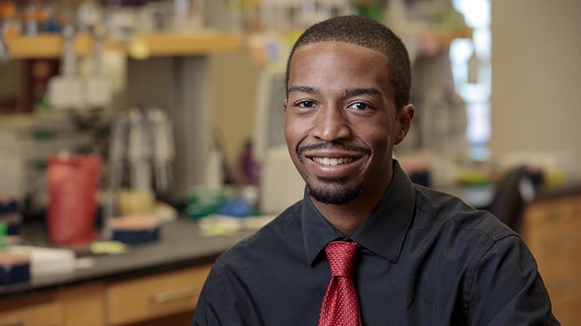 Kevin L. Cox Jr., a post-doctoral associate in the Blake Meyers Lab at Donald Danforth Plant Science Center, was awarded a $1.4 million fellowship from the the Howard Hughes Medical Institute. (Photo courtesy of the Donald Danforth Plant Science Center)