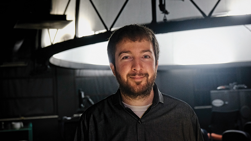NASA postdoctoral fellow Nathan Roth discovered his passion for comets in UMSL's Department of Physics and Astronomy. (Photo by August Jennewein)