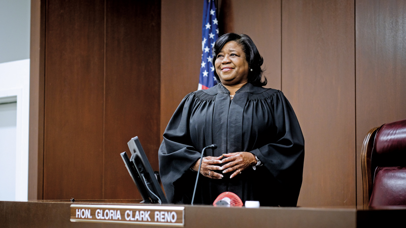 Alumna Gloria Clark Reno presides over the state's largest judicial circuit