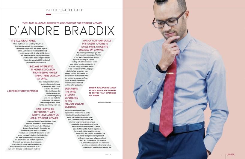 D'Andre Braddix article, 2019 CASE Award winner