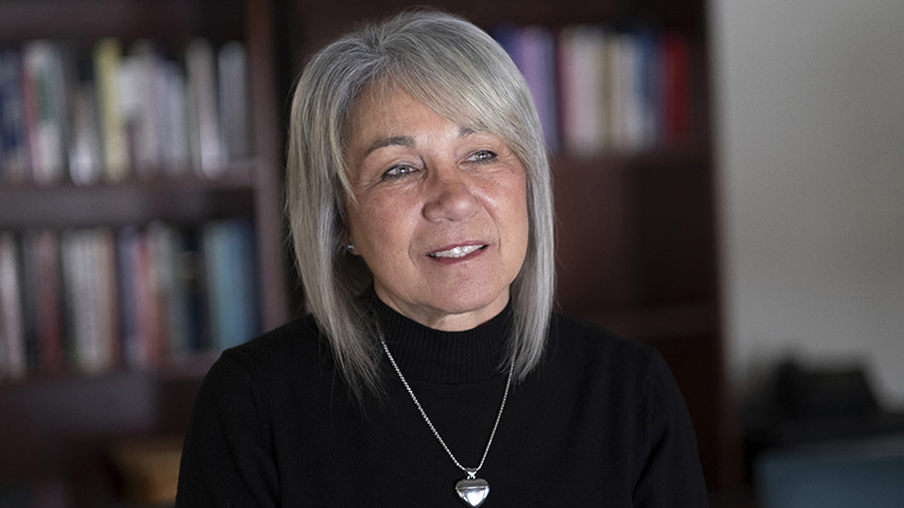 """Donald L. Ross Endowed Chair for Advancing Nursing Practice Roxanne """"Annie"""" Vandermause was named interim dean of the College of Nursing in January. (Photo by August Jennewein)"""