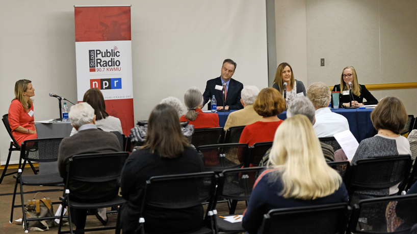 Beth Huebner, Mindy Bier and Tom Hoerr featured as 'St. Louis on the Air' comes to campus