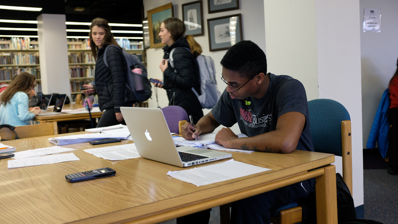 "LendEDU rated UMSL highly based on the university's ""College Risk-Reward Indicator,"" which is equal to average early pay divided by average student loan debt. (Photo by August Jennewein)"