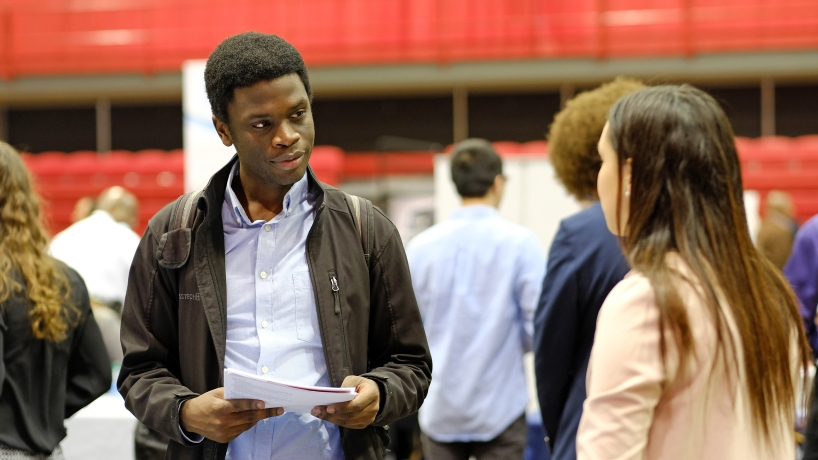 Nkazimulo Sibanda, career fair attendee
