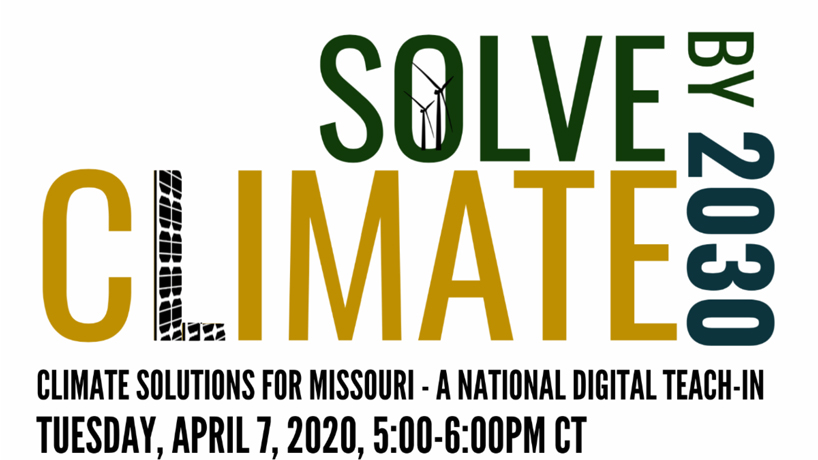 UMSL taking part in national Solve Climate by 2030 digital teach-in on April 7