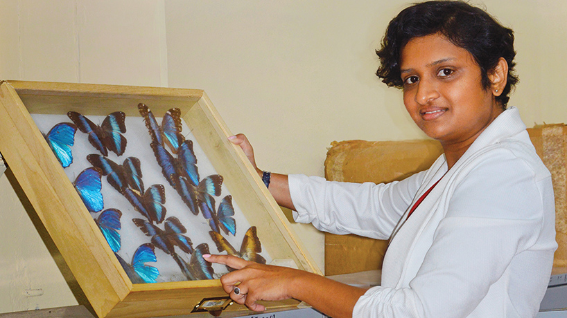 After finishing doctoral work in biology, Gyanpriya Maharaj returned home as a faculty member and director of the Centre for the Study of Biological Diversity at the University of Guyana. (Photo courtesy of Gyanpriya Maharaj)