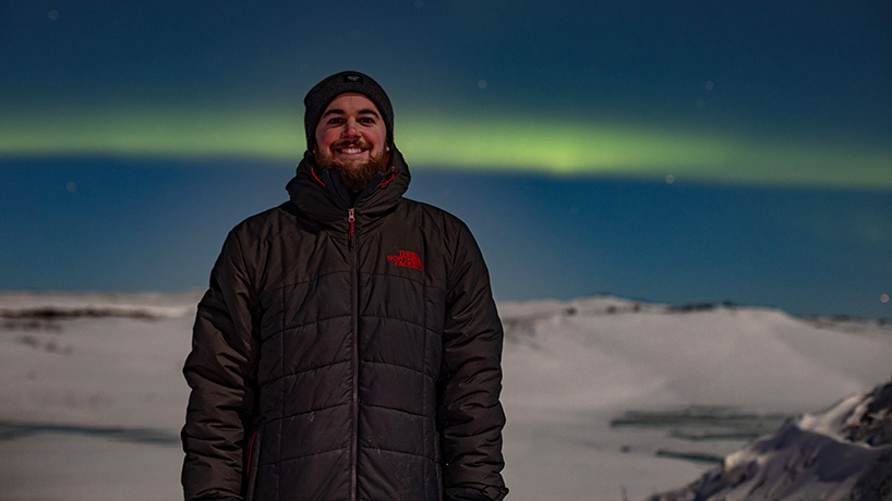 A benefit of visiting Nome in the winter was glimpsing the Northern Lights. (Photo by Michael Burnett)