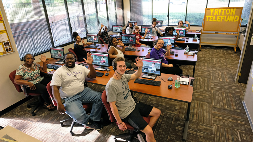 Triton Telefund operates remotely, provides student employment and alumni outreach