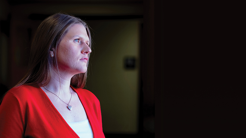 Assistant Professor of Social Work Erika Koegler researches sex and labor trafficking in the midwest. (Photo by August Jennewein)
