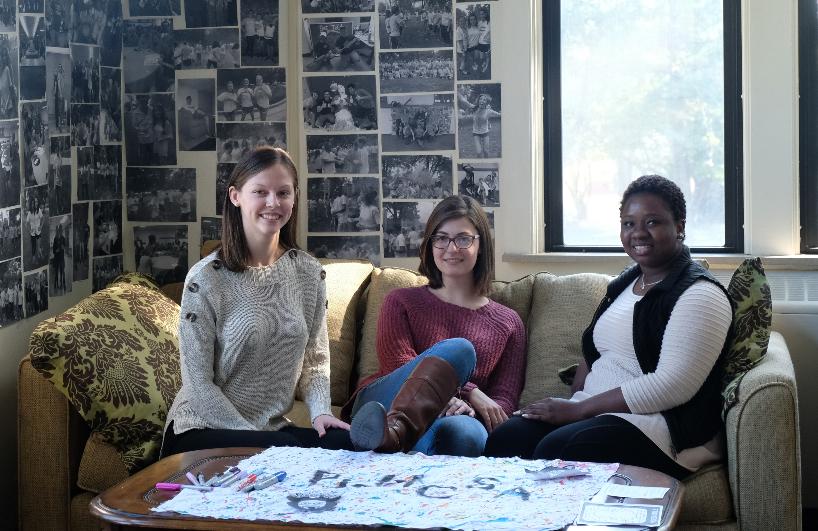 Madilynn Woodham, Sarah Wilson and Monique Edwards