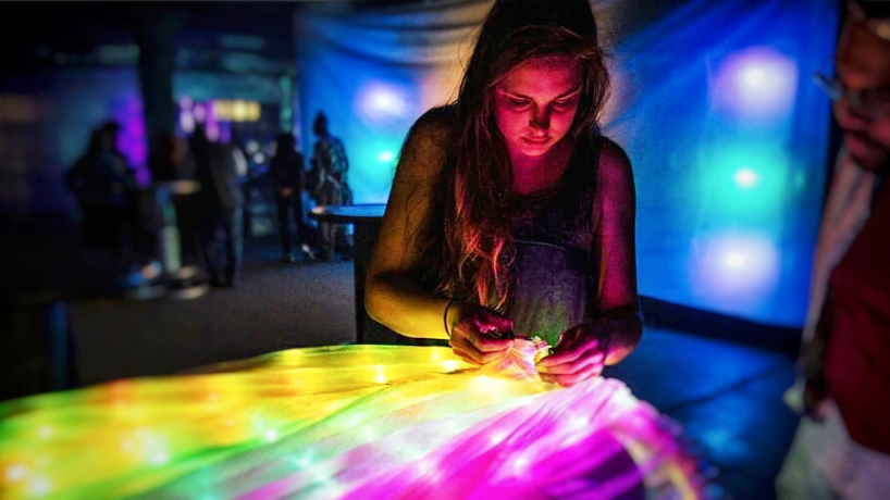 Electrical engineering student and lighting artist Ann Johnson combines creativity with technology