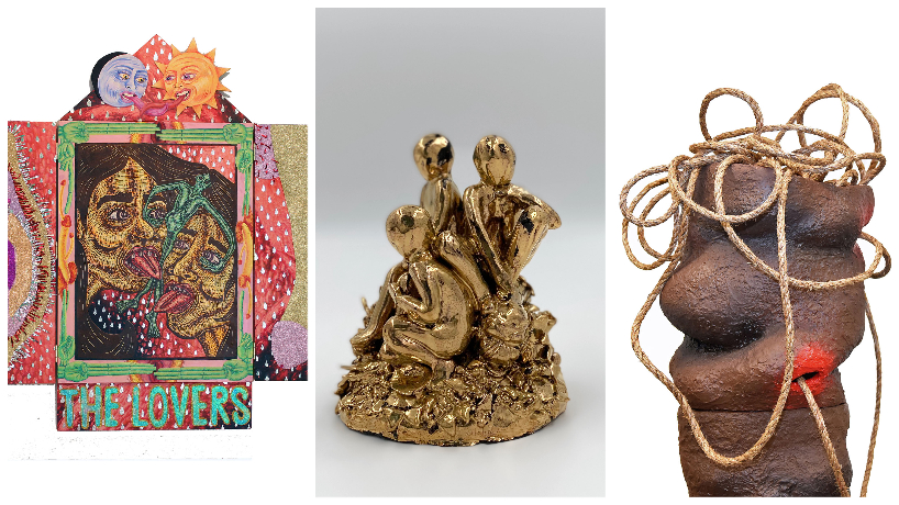 "St. Louis-based artists Julian Curran, Lola Ogbara and Emma Vidal featured in ""Exposure 21: Three Myths"" at Gallery 210"