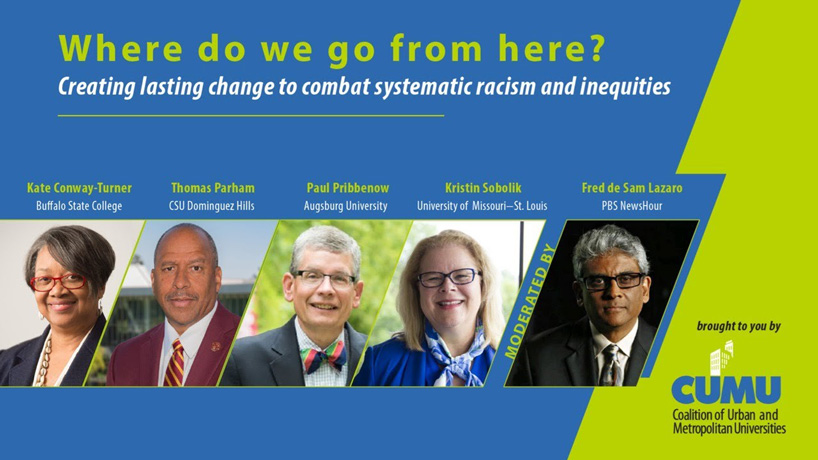 Chancellor Kristin Sobolik joins panel discussing the need for lasting change to combat systemic racism