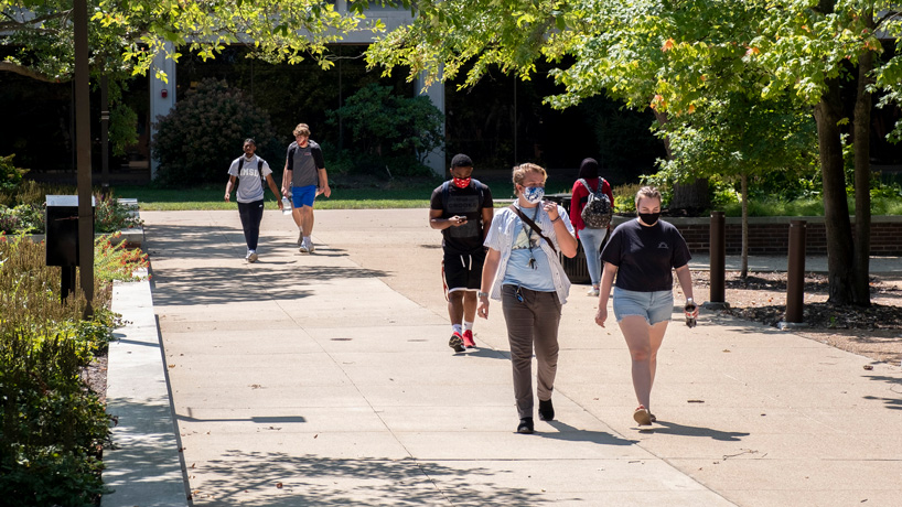 Glad to be back: Students return to campus as classes resume