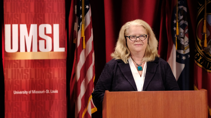 Chancellor Kristin Sobolik calls on UMSL to deepen its impact, expand its reach during State of the University Address