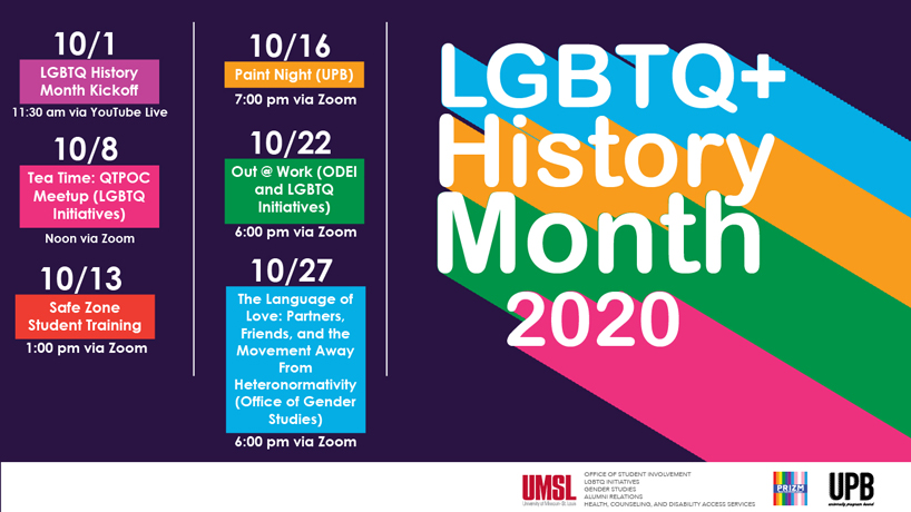 UMSL kicks off LGBTQ+ History Month