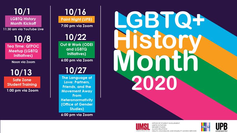 LGBTQ+ History Month 2020