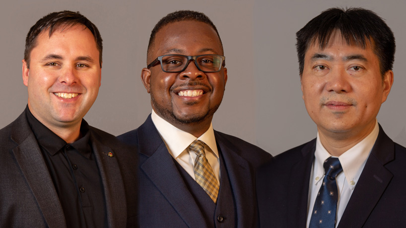 DBA students Robert Barclay, James Jordan Jr. and James Xu explore solutions to real-world business problems