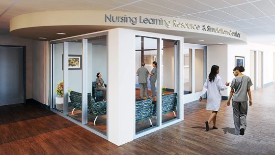 Lobby of the Nursing Learning Resource and Simulation Center