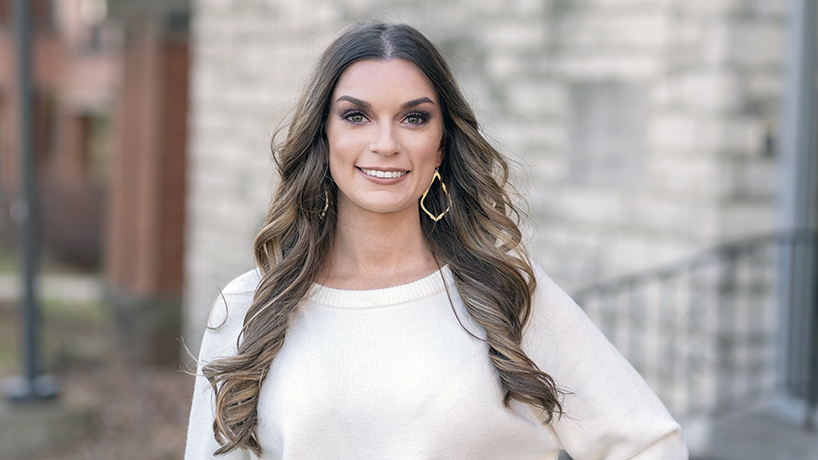 College of Nursing student marshal Hannah Williams marries and graduates in one day
