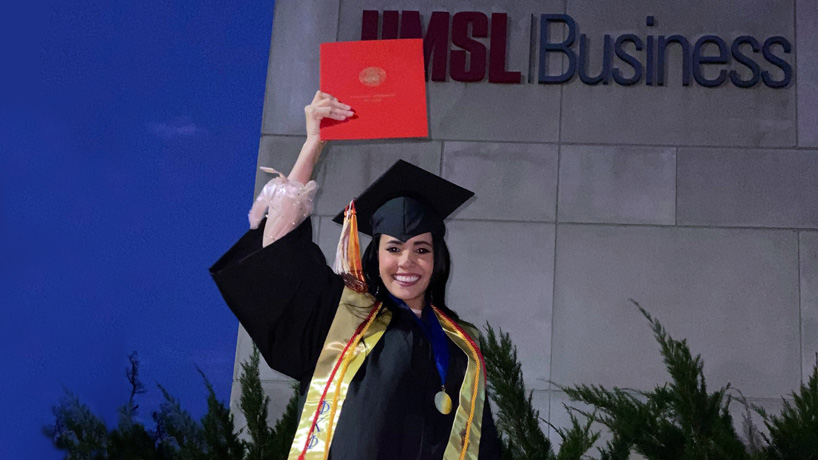 Boeing internship, MBA next up for business graduate Carmen Palencia after earning her degree