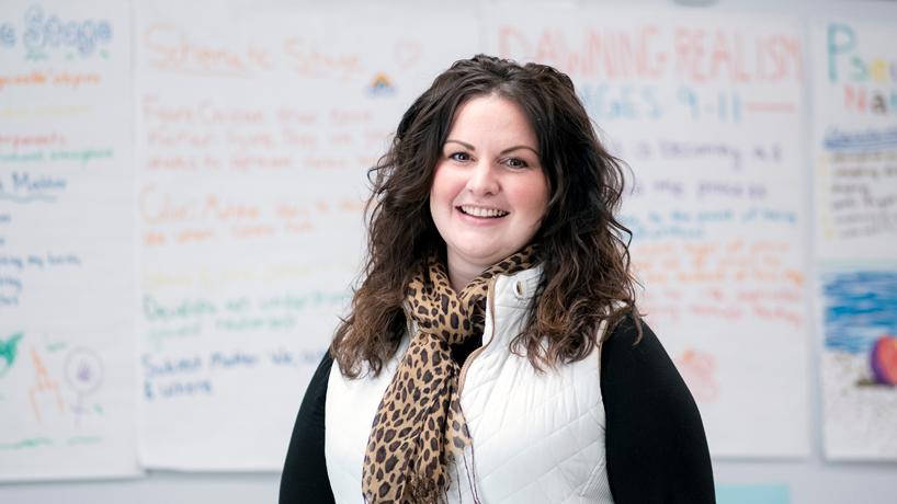 Jennifer Fisher in her classroom