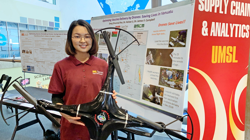 PhD candidate Juan Zhang uses drones to deliver real-life solutions